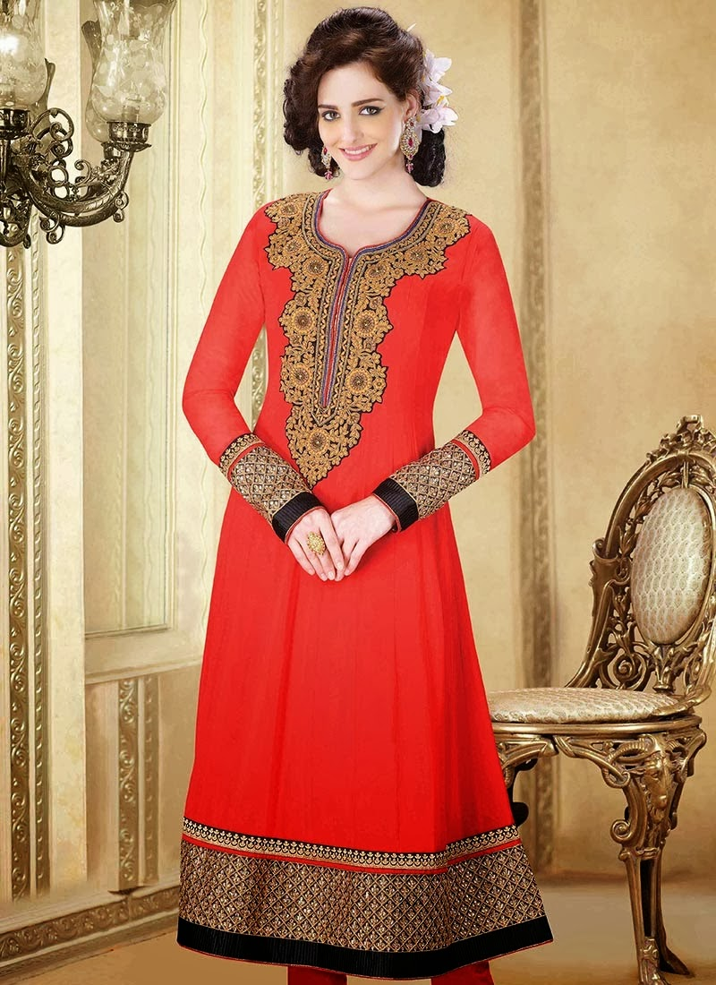 Indian Designers Churidar Suits Beautiful Dress 2013-14