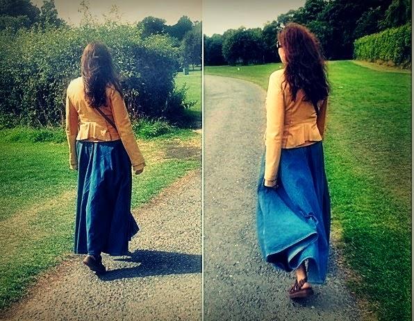 OOTD : Długa spódnica Levi's i Sandały Dr Martens / Long skirt Levi's and Sandals Dr Martens