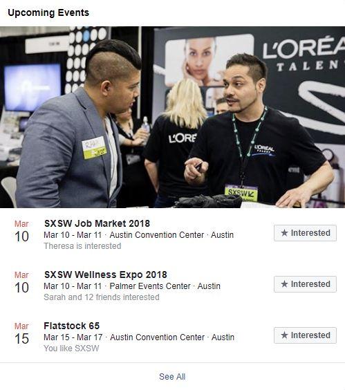 SXSW Upcoming Events
