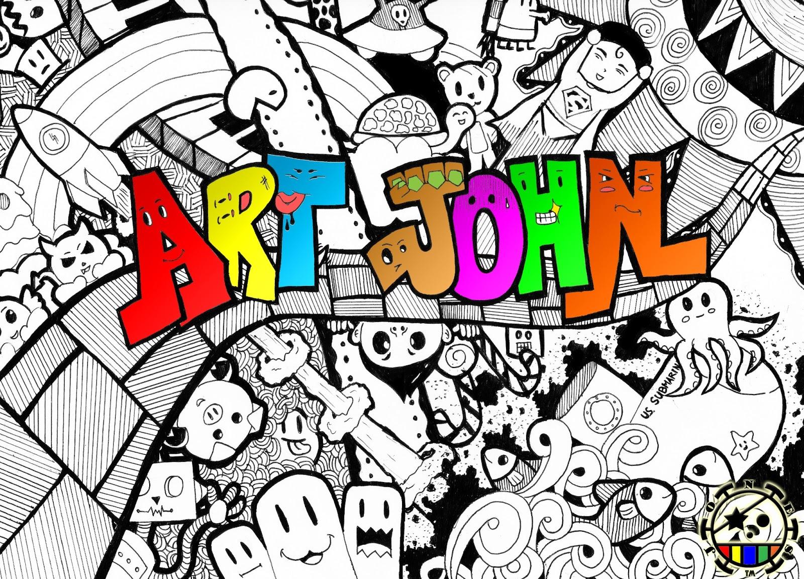 Name Art: Doodle Art