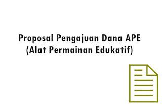 Ketersediaan APE atau Alat Permainan Edukatif di PAUD sangat penting dalam menunjang kegia Geveducation:  Proposal Pengajuan Dana APE (Alat Permainan Edukatif)