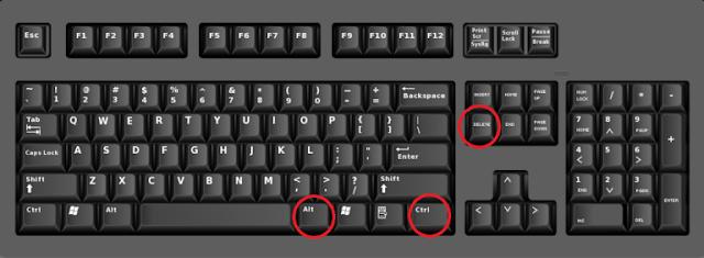 Alt + ctrl + Delete
