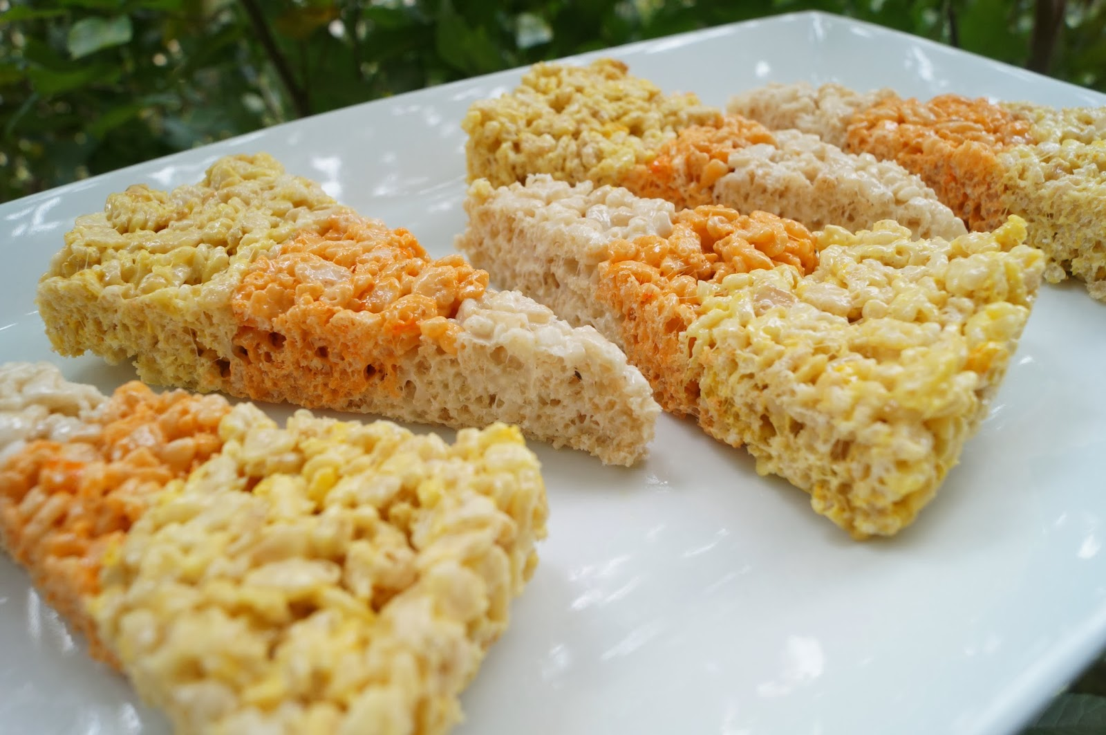 Candy Corn Rice Krispy Treats by In the Kitchen with Jenny