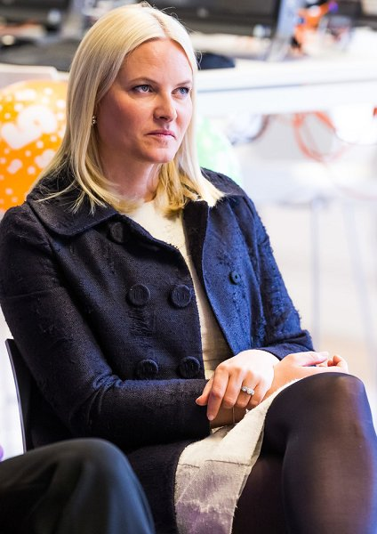 Princess Mette Marit Visited Stella Red Cross Centre In