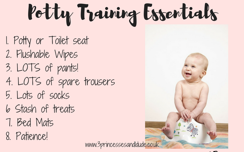 potty training essentials.