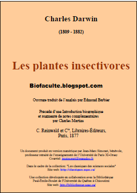 plantes insectivores-Charles Darwin