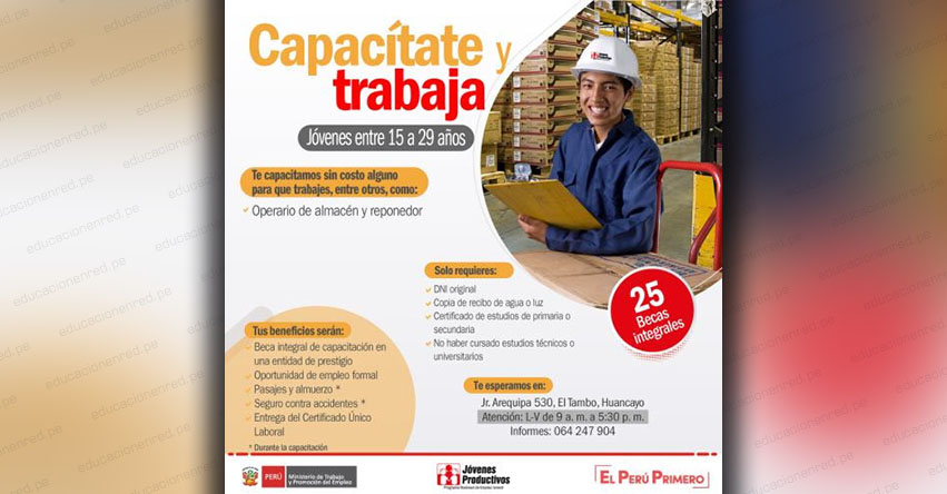 Ministerio de Trabajo ofrece becas integrales a jóvenes en situación de pobreza de Junín - www.trabajo.gob.pe