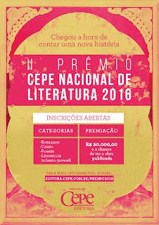 Resultado de imagem para premio cepe de literatura 2016