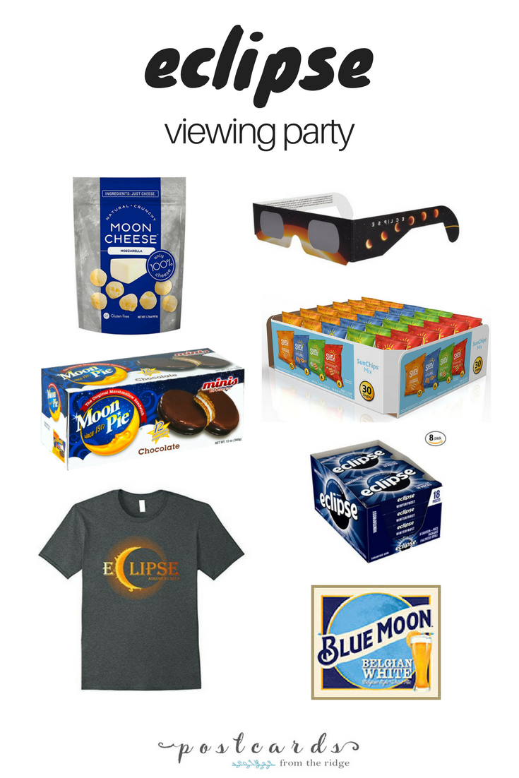 Fun ideas for an eclipse viewing party. Food, drink, and music ideas!