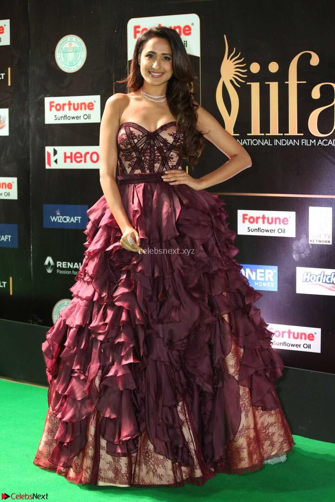 Pragya Jaiswal in a Beautiful Designer Sleeveless Shoulder less Gown at IIFA Utsavam Awards 2017  Day 2 CelebsNext Exclusive