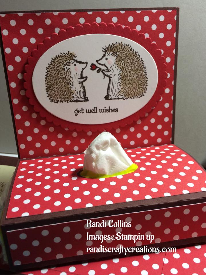 randi s crafty creations stampin up tissue holder cricut