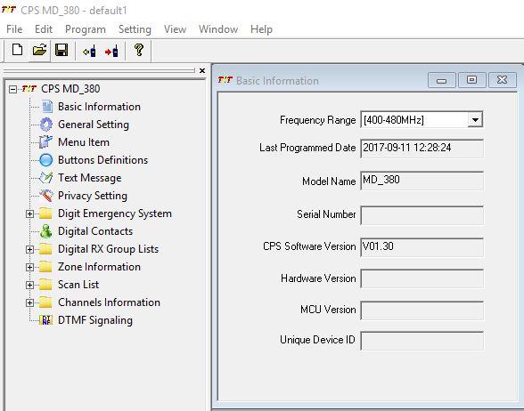 Dmr Code Plug