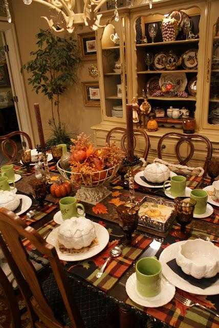 It 39 s written on the wall ideas for your thanksgiving - Thanksgiving dinner table decorations ...