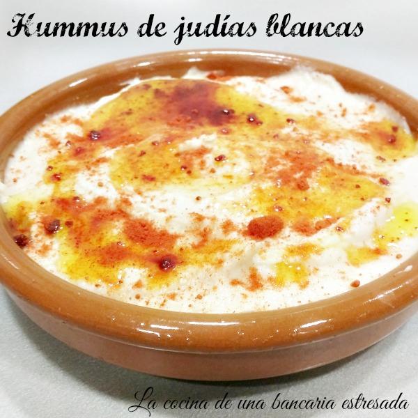 Receta de hummus de judías blancas paso a paso con fotografías