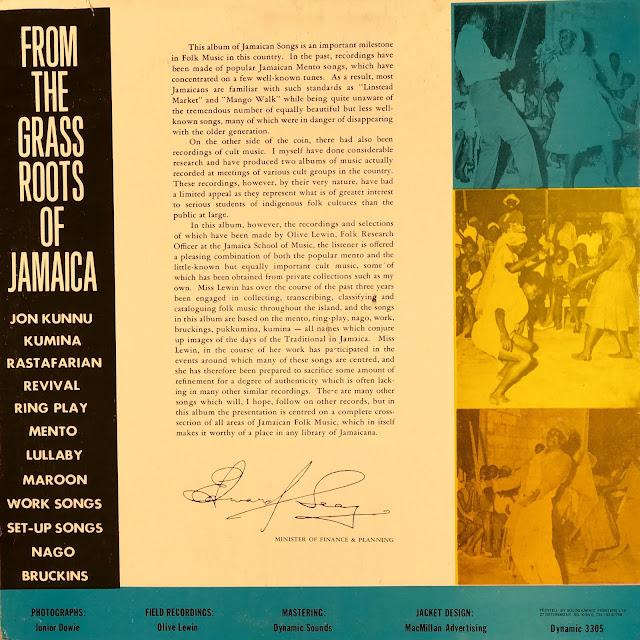 Folk music from Jamaica (pre Reggae)