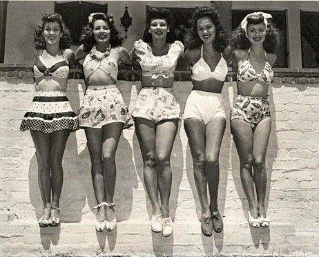 hicas vintage en bikini