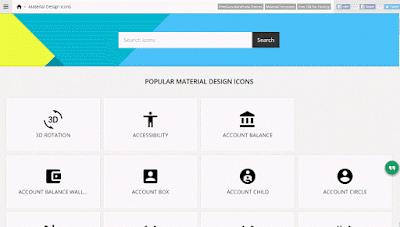 Những trang web tải miễn phí Material Design Icons