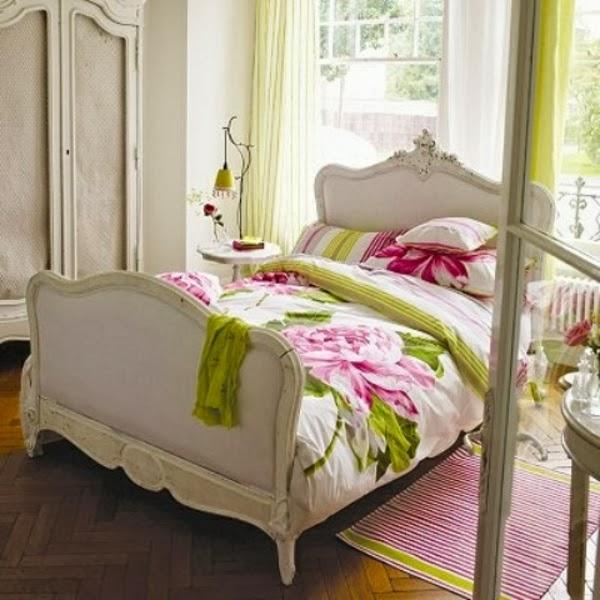 cuarto rosa verde blanco