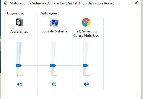 volume do navegador