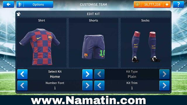 Kostum Dream League Soccer Barcelona 2019 Home