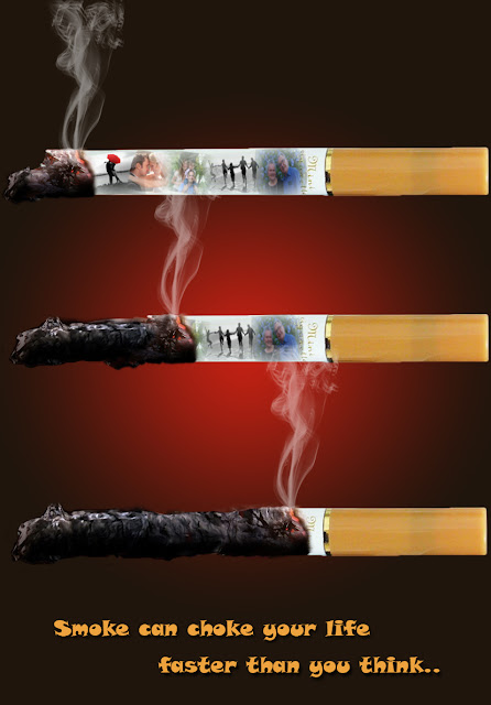 GrayScale Studio No Smoking Campaign Print Promotion