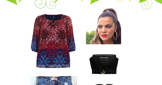 CURVY GIRLS: Cut-Off Shorts & Evans Print Blouse