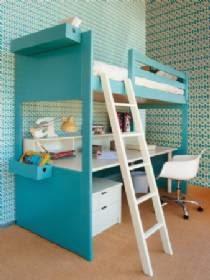 literas con escritorio debajo. Black Bedroom Furniture Sets. Home Design Ideas