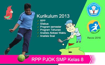 Download RPP PJOK SMP Kurikulum 2013 Kelas 8 revisi 2016