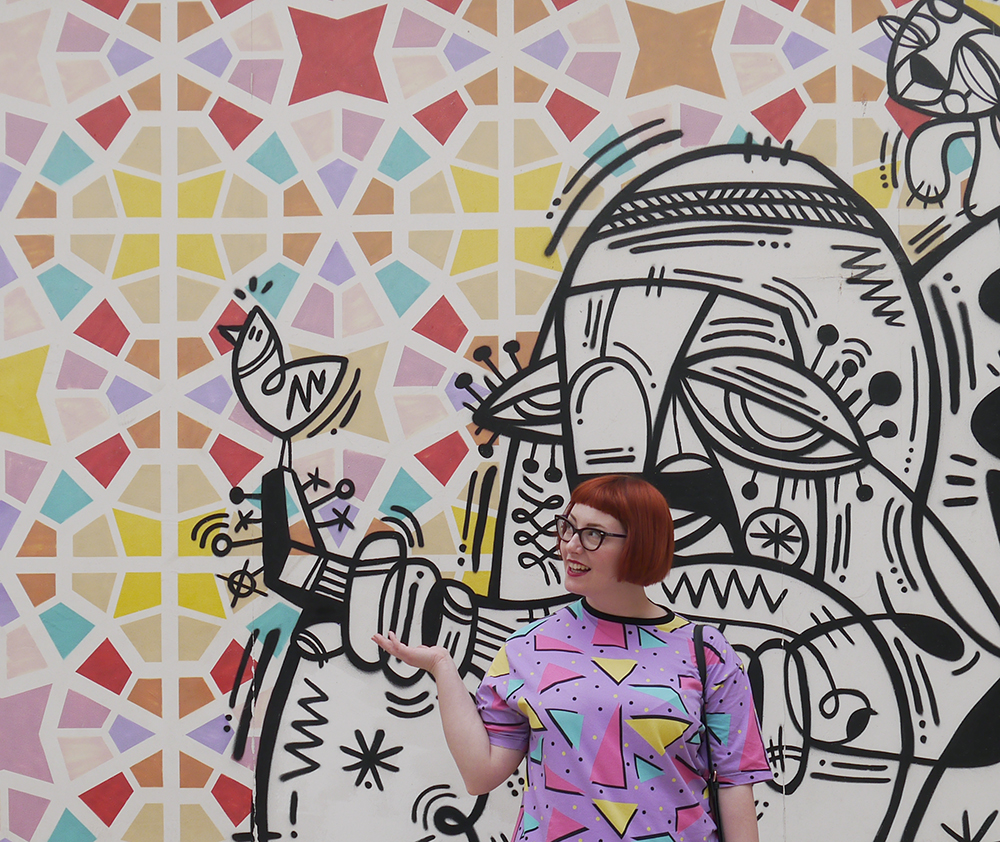 Top 5 Things to do in Dubai, Al Fahidi Historic District, holiday tips, Dubai, thins to do in Dubai, art in Dubai, Dubai street art, Dubai mural, Dreamland Clothing, Scottish blogger
