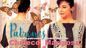 Chaleco Mariposa en dos agujas y crochet / Patrones