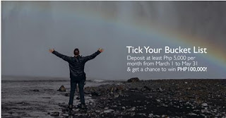 Security Bank Tick Your Bucket List Raffle Promo