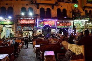 بعض مطاعم ميدان مسجد سيدنا الحسين القاهرة