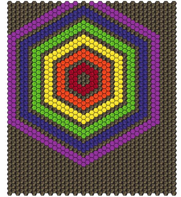 Rainbow Hexies Quilt Design | DevotedQuilter.blogspot.com
