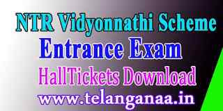 NTR Vidyonnathi 2019 Entrance Exam Hall tickets Download
