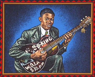 B. B. King por Robert Crumb
