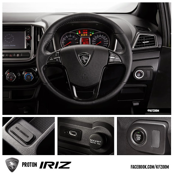 proton iriz interior dashboard