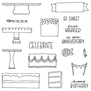 Celebrate with Cake CTMH Stamp Set SOTM