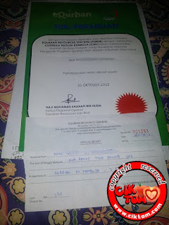 Sijil Perakuan Korban 2012 dari eQurban