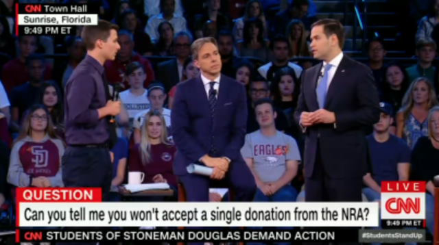 CNN's Tapper Sits Back as Student Equates Rubio to School Shooter