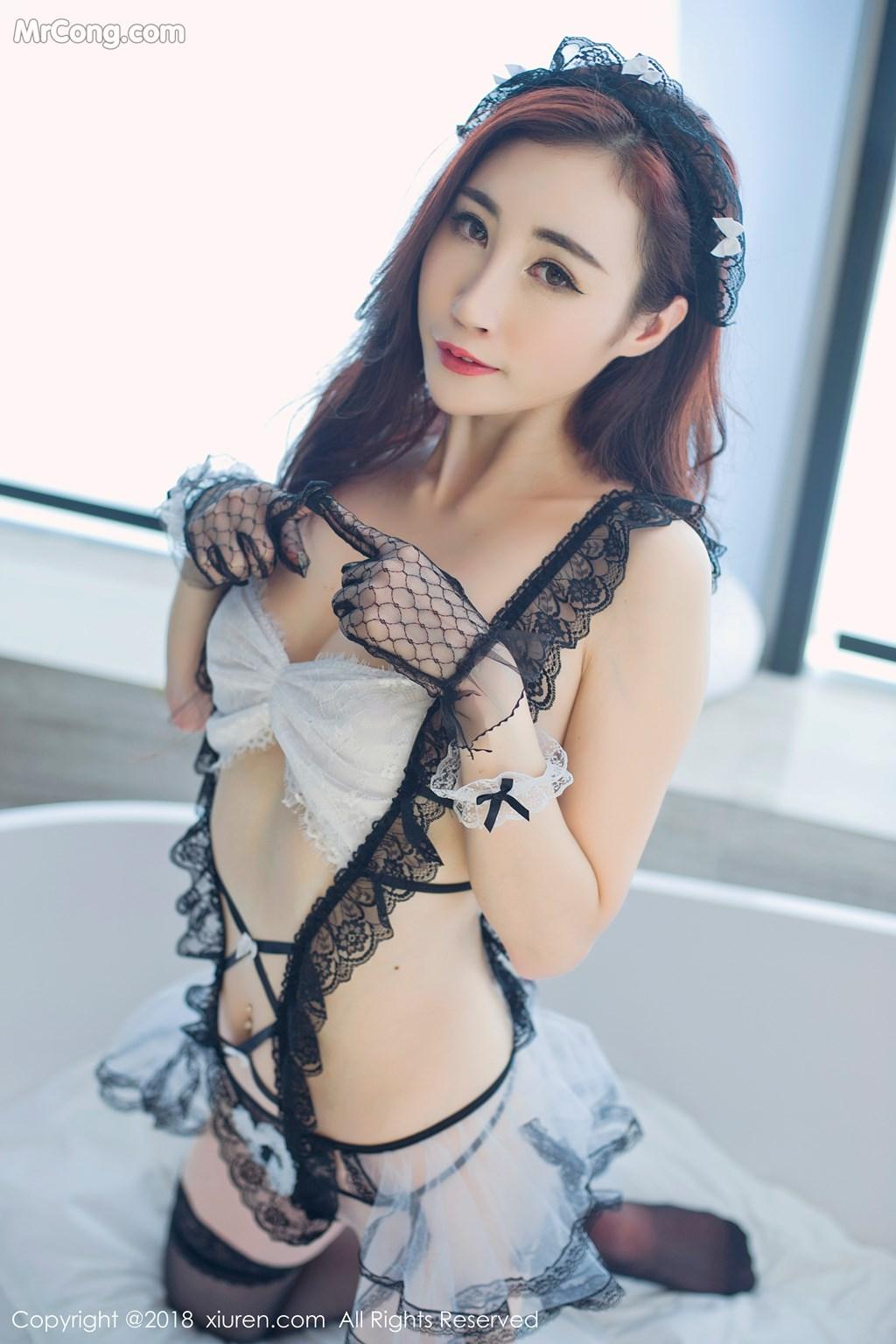 Image XIUREN-No.1059-Sun-Meng-Yao-V-MrCong.com-010 in post XIUREN No.1059: Người mẫu Sun Meng Yao (孙梦瑶V) (46 ảnh)