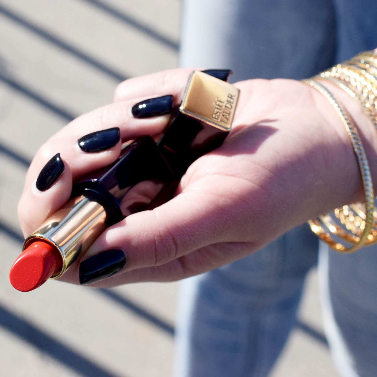 Pure Color Envy sculpting lipstick in vengeful red