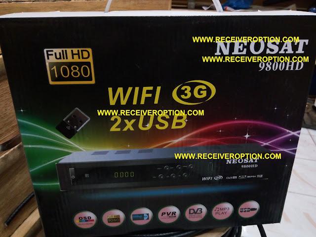 NEOSAT 9800 HD RECEIVER BISS KEY OPTION