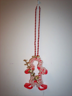 Beaded Gingerbread Man Ornament 1