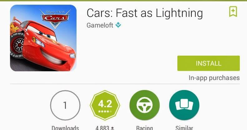 Pixar Cars Game Android