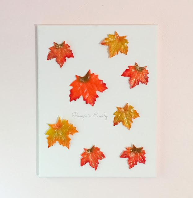 DIY Fall Leaf Canvas