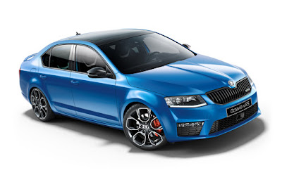 New 2017 Skoda Octavia vRS Blue color Hd Photos  02