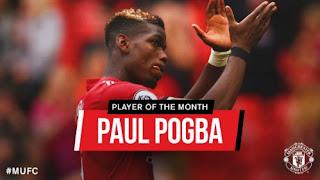 Pogba Pemain Terbaik Manchester United Agustus 2017