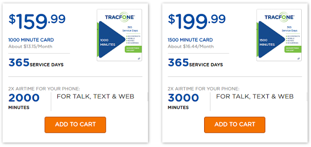 TracFone High Value Airtime cards.