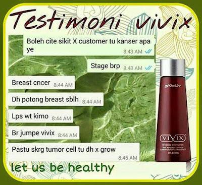 Testimoni Pesakit Kanser Sihat Selepas Mengambil Makanan Tambahan Vivix Shaklee