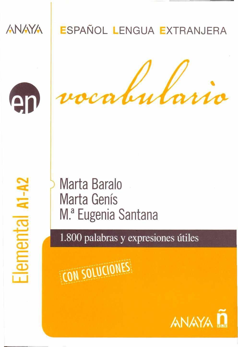Vocabulario: Español Lengua Extranjera – Marta Baralo Ottonello